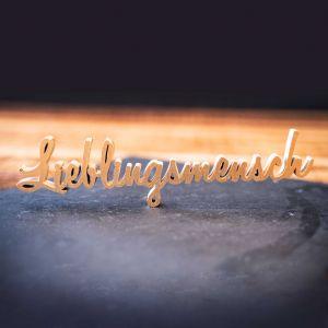 """Holz-Schriftzug """"Lieblingsmensch"""""""