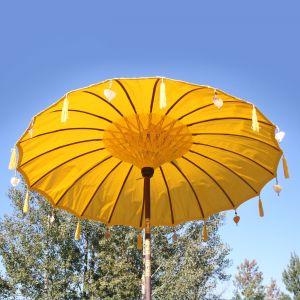Original Balinesischer Sonnenschirm Gelb