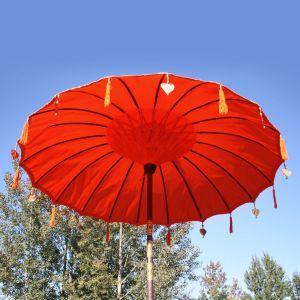 Original Balinesischer Sonnenschirm Rot