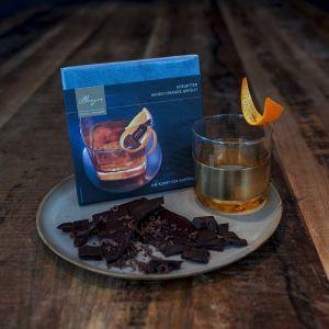 Schokolade Edelbitter gefüllt mit Whisky-Orange
